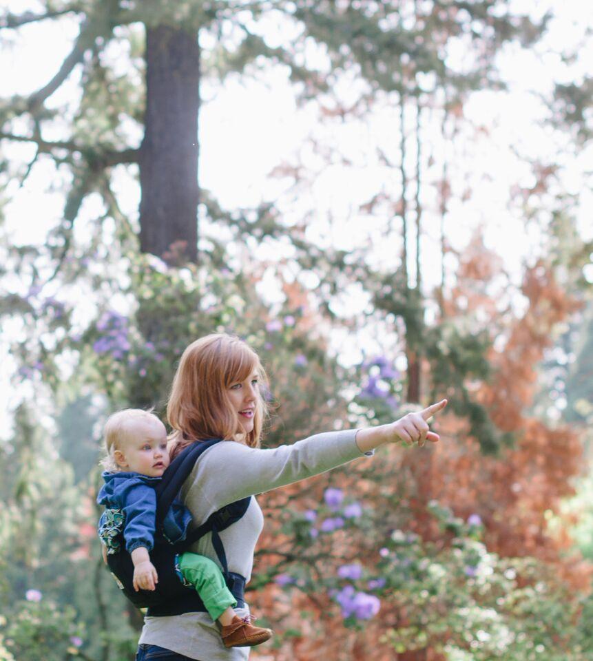ergobaby babytrage auf dem Rücken