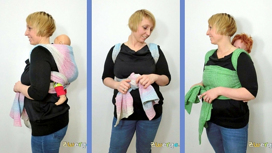 Tragetuch binden - einfacher Rucksack, Double Hammock