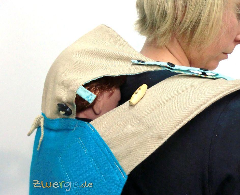 Fräulein Hübsch MeiTai - Kopfstütze bei der Rückentrage - seitlich