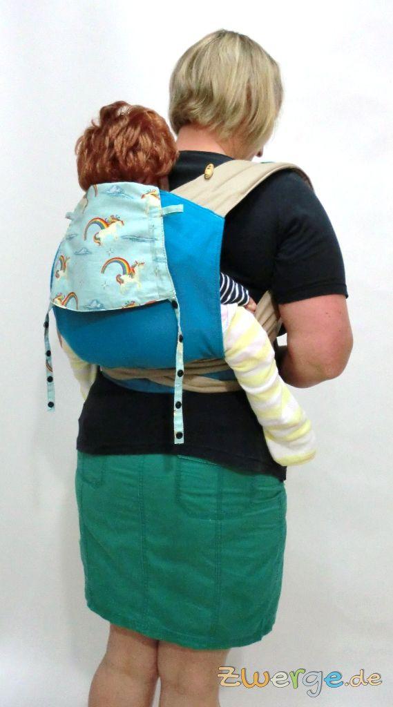 Fräulein Hübsch MeiTai in der Rückentrage- größeres Baby