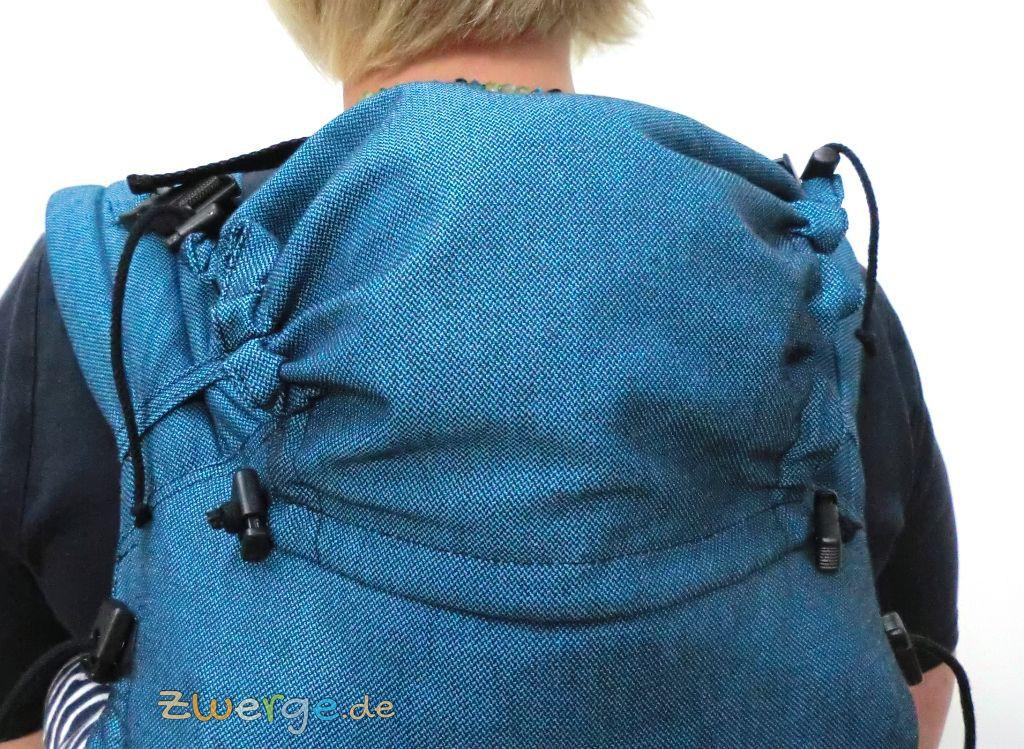 storchenwiege Carrier - Kopfstütze, wenn Dein Baby eingeschlafen ist