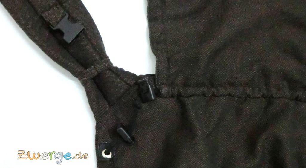 gepolsterte Schulterträger beim Storchenwiege Carrier