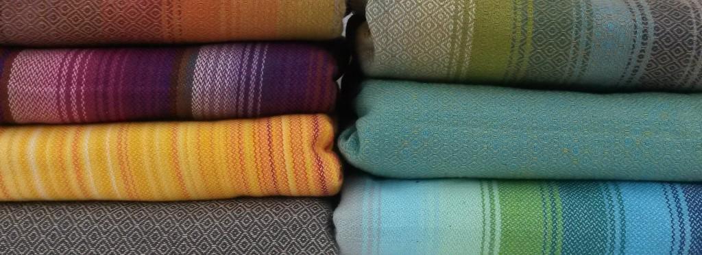 Girasol tragetuch - bunte Farben und Streifen