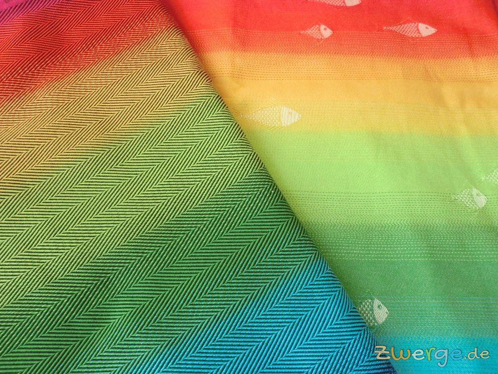 Didymos Babytragetuch Regenbogen Fische und Lisca