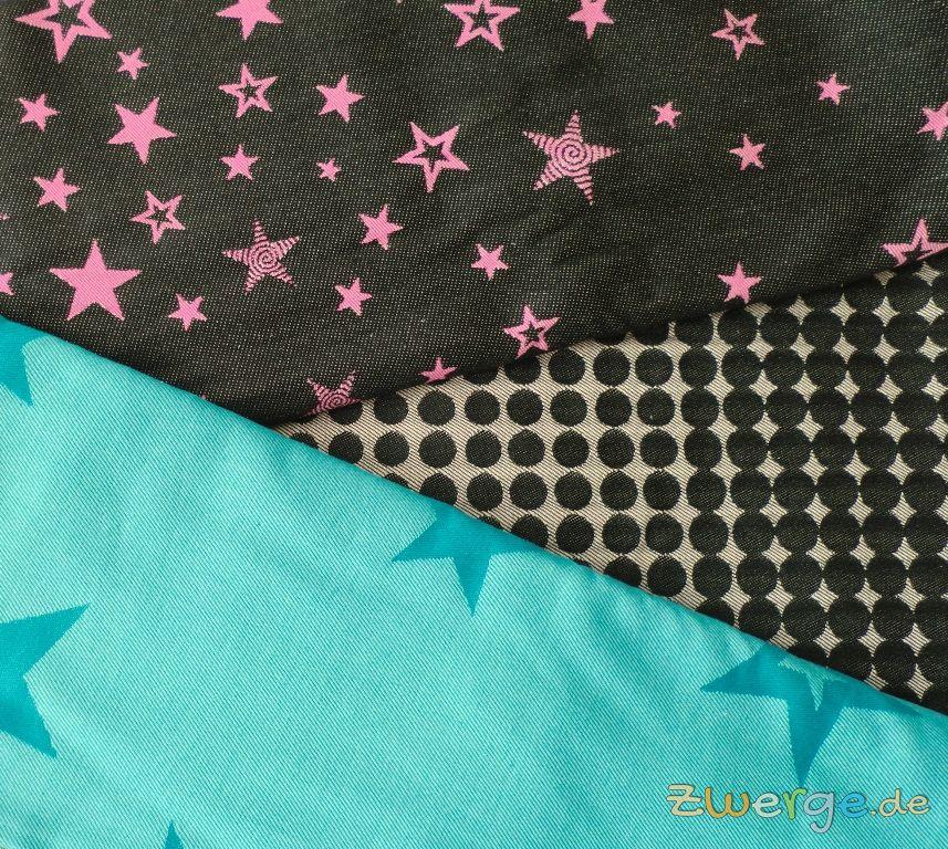 Kokadi Tragetuch mit Sternen und Punkten