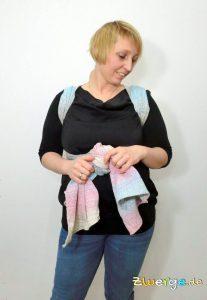 Tragetuch binden - einfacher Rucksack von vorne