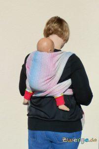 Tragetuch binden - einfacher Rucksack von hinten