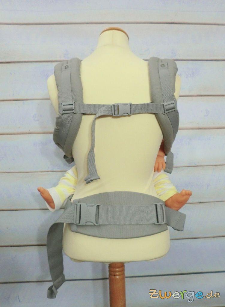 ergobaby adapt mit geraden Trägern + Brustgurt