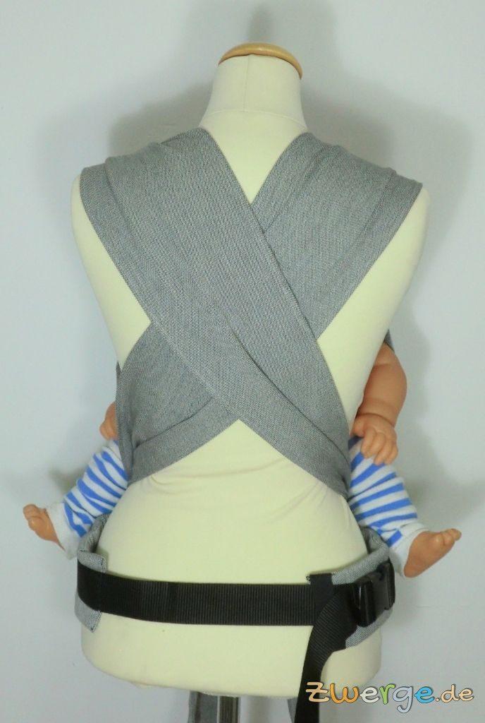 Limas Babytrage von hinten. Breite Schulterträger.
