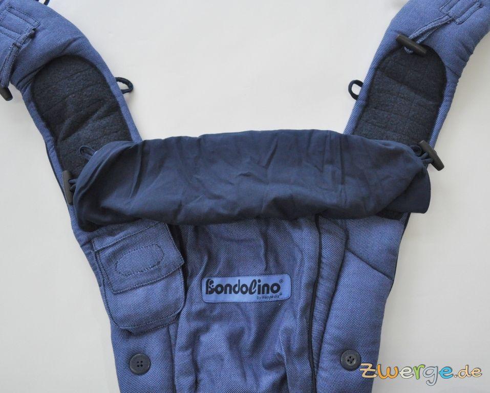 Hoppediz Bondolino Babytrage mit eingerollter Kopfstütze