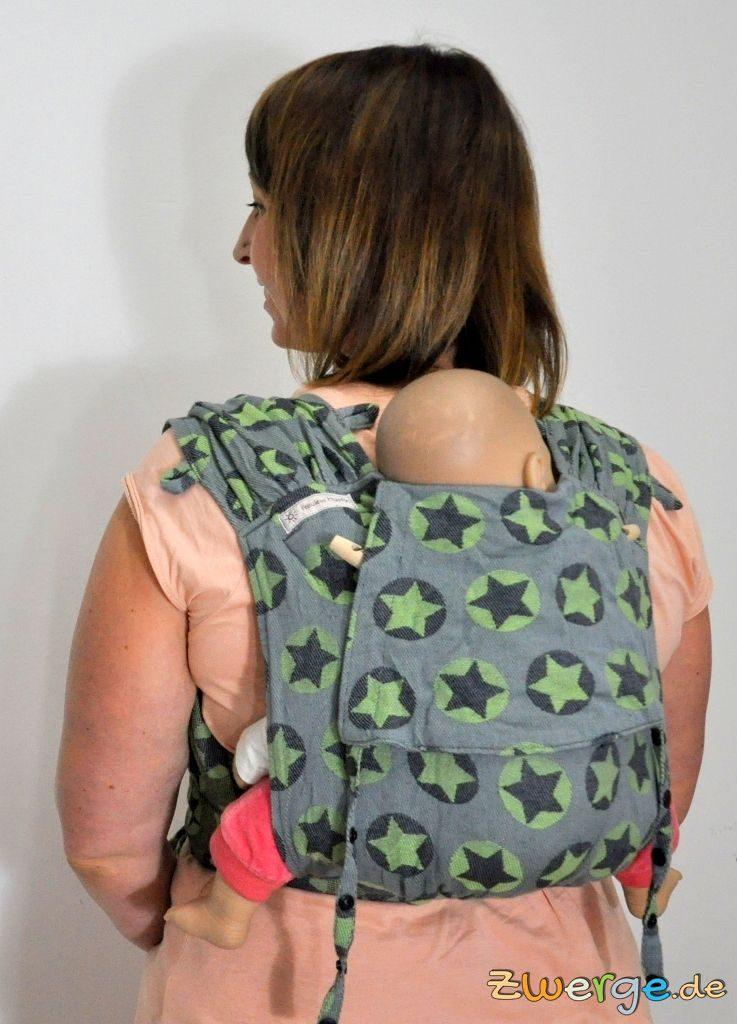 Fräulein Hübsch Wrapcon apron - mit kurzem Rückenteil als Rückentrage.