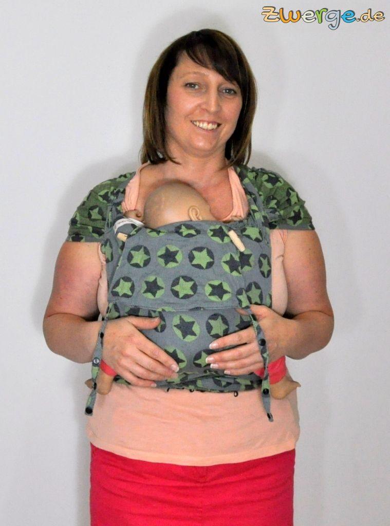 Fräulein Hübsch Wrapcon apron - mit kurzem Rückenteil und gekippten Schulterträgern.