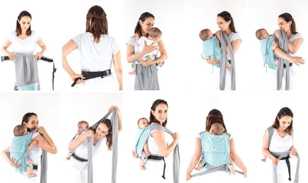 Limas Babytrage als Rückentrage